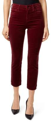 J Brand Ruby High Waist Crop Velvet Pants