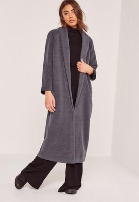 Tall Shawl Collar Wool Maxi Coat Grey $96 thestylecure.com