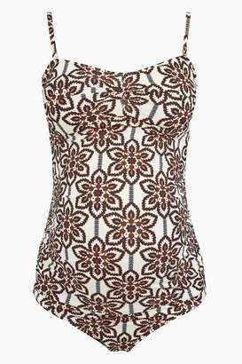 Next Womens Cream Tile Printed Maternity Swimsuit