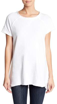 Allen Allen Raw Trim Lace Back Tee
