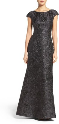 Women's Vera Wang Textured Metallic Gown $398 thestylecure.com