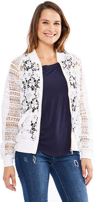 dd04f6f19ebaf ... SKYE S THE LIMIT Skyes The Limit St. Barths Lace Bomber Jacket- Plus