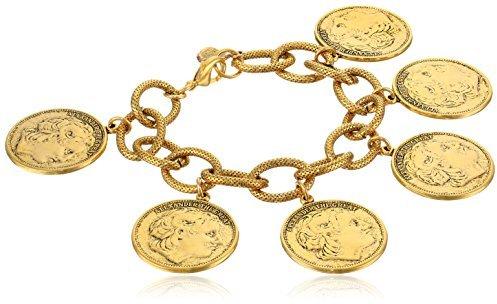 Yochi Gold Plated Alexander Multi-Coin Bracelet