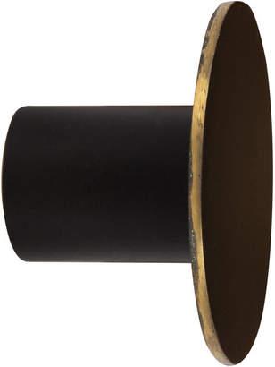 ferm LIVING Black Brass Wall Hook - Small