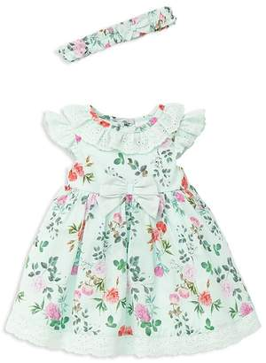 Little Me Girls' Garden Party Dress, Headband & Bloomers Set - Baby