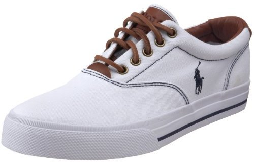 Polo Ralph Lauren Men\u0026#39;s Vaughn Canvas/Leather Lace up casual