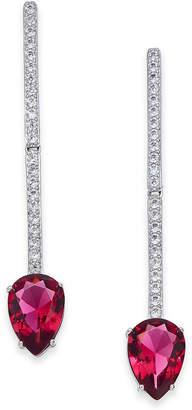 Danori Crystal & Chain Linear Drop Earrings