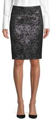 Calvin Klein Petite Jacquard Skirt