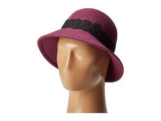 San Diego Hat Company WFH8037 Cloche with Black Lace Trim