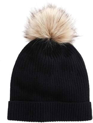 Vineyard Vines Ribbed Fur Pom Hat