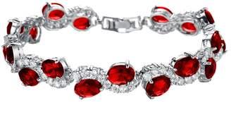 D.B.MOOD Women's Platinum Plated Rhinestone Cubic Zirconia Bracelet Wedding Jewelry