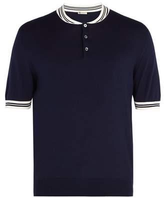 Connolly - Cotton Knit Racing Polo Shirt - Mens - Navy