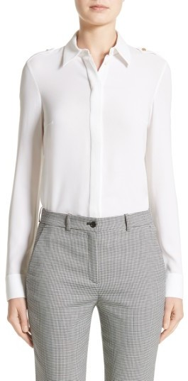 Women's Michael Kors Silk Georgette Epaulet Shirt