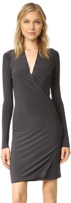 Norma Kamali Kamali Kulture Modern Slide Drape Dress $150 thestylecure.com
