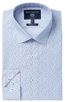 Report Collection Modern Fit Floral Dress Shirt