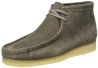 Clarks Men's Wallabee Boot Mocassins, (Grey Suede)