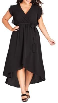 City Chic Lolita High/Low Maxi Dress