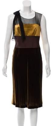 Alberta Ferretti Silk Midi Dress w/ Tags