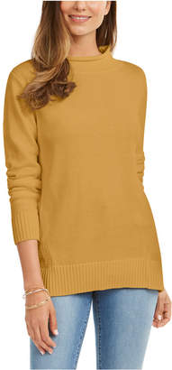 Karen Scott Cotton Mock-Neck Sweater