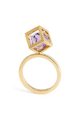 Yael Sonia Rotated Solo Amethyst Ring