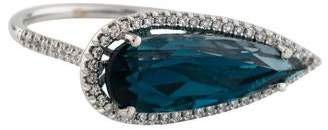Suzanne Kalan 18K Diamond & Topaz Cocktail Ring