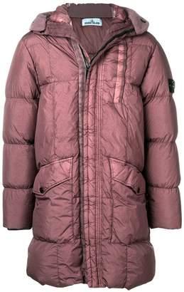 Stone Island crinkled padded coat