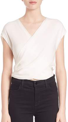 "L'Agence L""AGENCE Women's Lee Silk Crossover Blouse"