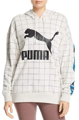 Puma Revolt Windowpane Hooded Sweatshirt