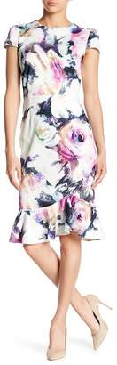 Betsey Johnson Floral Ruffle Hem Dress