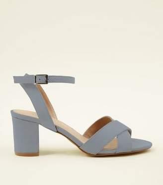 New Look Teens Blue Suedette Block Heels
