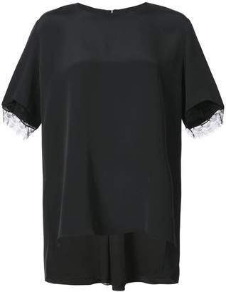 ADAM by Adam Lippes lace trim T-shirt