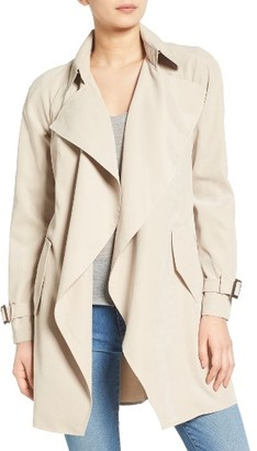 Women's Kensie Belted Drapey Trench Coat $198 thestylecure.com