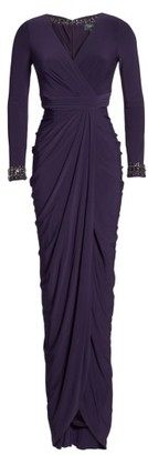 Women's Adrianna Papell Beaded Jersey Gown $199 thestylecure.com