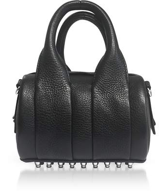Alexander Wang Black Soft Pebble Leather Baby Rockie Satchel Bag