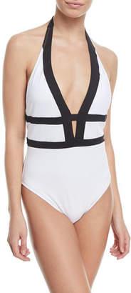 LaBlanca La Blanca Modern Halter One-Piece Swimsuit