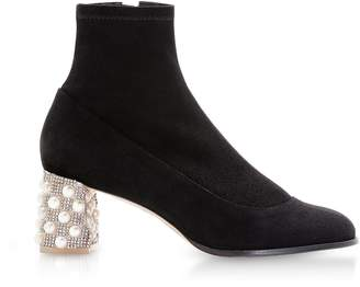 Sophia Webster Black Felicity Mid Ankle Boots
