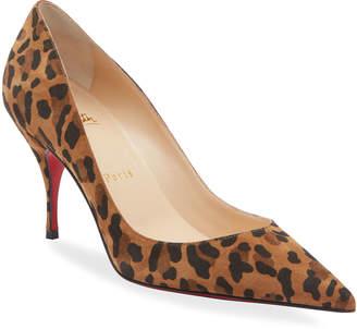 Christian Louboutins Leopard Pumps Shopstyle