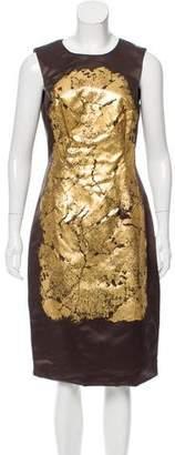Jason Wu Silk Appliqué-Accented Dress