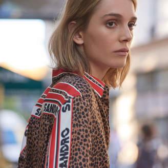 Sandro Leopard print oversized shirt