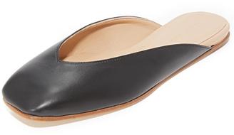 Helmut Lang Square Toe Flats $425 thestylecure.com