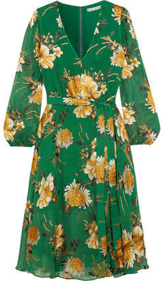 Alice + Olivia Alice Olivia - Coco Floral-print Fil Coupé Chiffon Dress - Green $440 thestylecure.com