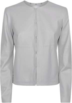 Escada Sport Collarless Leather Jacket