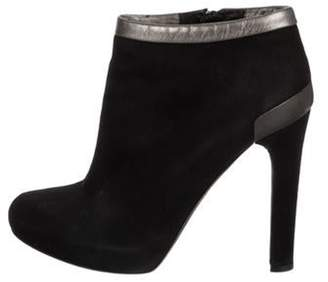 Fendi Suede Ankle Boots Black Suede Ankle Boots