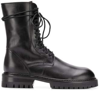 Ann Demeulemeester military boots