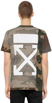 Off-White Off White Reconstructed Camouflage Jersey T-Shirt