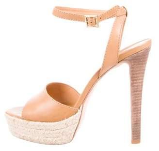 Tory Burch Peep-Toe Platform Sandals
