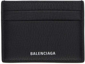 Balenciaga Black Logo Everyday Card Holder