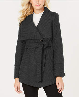 INC International Concepts I.N.C. Petite Textured Wrap Coat, Created for Macy's