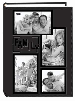 "Pioneer Collage Frame Embossed ""Family"" Sewn Leatherette Cover 300 Pocket Photo Album"