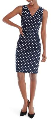 J.Crew V-Neck Seersucker Dress in Polka Dot